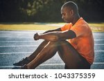focused young african male...   Shutterstock . vector #1043375359