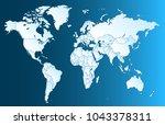 color world map vector | Shutterstock .eps vector #1043378311