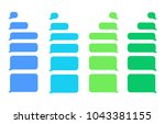 flat messages bubbles  | Shutterstock .eps vector #1043381155