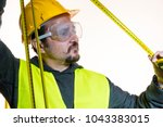 a man who wants to do a work... | Shutterstock . vector #1043383015