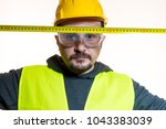 a man who wants to do a work... | Shutterstock . vector #1043383039