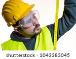 a man who wants to do a work... | Shutterstock . vector #1043383045