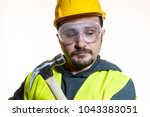 a man who wants to do a work... | Shutterstock . vector #1043383051