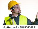 do it yourself  man dressed in... | Shutterstock . vector #1043383075