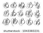 calligraphy lettering script... | Shutterstock .eps vector #1043383231