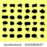 empty talk bubble. text message ...   Shutterstock .eps vector #1043383657