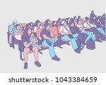 illustration of movie theater... | Shutterstock .eps vector #1043384659