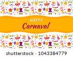 festive carnival banner  poster ... | Shutterstock .eps vector #1043384779