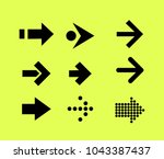 arrow pointers vectors.  | Shutterstock .eps vector #1043387437