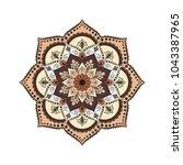 flower mandala. vintage... | Shutterstock .eps vector #1043387965