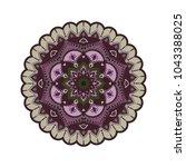 flower mandala. vintage... | Shutterstock .eps vector #1043388025