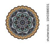 flower mandala. vintage... | Shutterstock .eps vector #1043388031