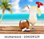 Summer Drink With Blur Beach O...