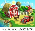 vector illustration of a farm... | Shutterstock .eps vector #1043399674