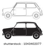 Small Car Outlines Isolated On...