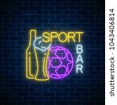glowing neon sport bar concept... | Shutterstock .eps vector #1043406814