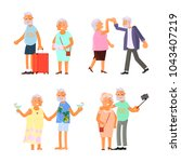 healthy active lifestyle... | Shutterstock .eps vector #1043407219