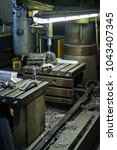 detail of drill machine in... | Shutterstock . vector #1043407345