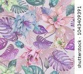 beautiful aquilegia or... | Shutterstock . vector #1043409391
