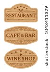 wooden signboards with text...   Shutterstock .eps vector #1043411329