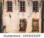 Rustic Wall With Two Rows Of...
