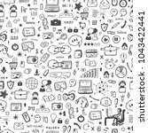 internet of things background....   Shutterstock .eps vector #1043422441