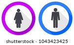 set of female and male gender... | Shutterstock .eps vector #1043423425