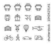vector image set of transport... | Shutterstock .eps vector #1043425141