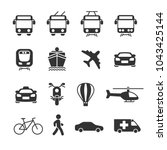 vector image set of transport... | Shutterstock .eps vector #1043425144