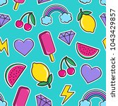 cute seamless pattern with... | Shutterstock .eps vector #1043429857
