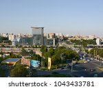the panorama from the hight to... | Shutterstock . vector #1043433781