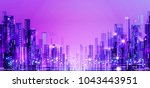 background of the night city... | Shutterstock . vector #1043443951