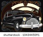 retro vintage vector 60s  50s...   Shutterstock .eps vector #1043445091