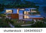 3d rendering of modern cozy... | Shutterstock . vector #1043450317