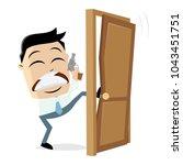 detective breaking the door | Shutterstock .eps vector #1043451751