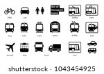 set transport icons on white... | Shutterstock .eps vector #1043454925