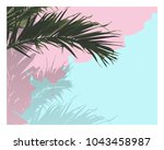 vector of palm tree leaf ... | Shutterstock .eps vector #1043458987