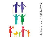 colorful abstract pictograms...   Shutterstock .eps vector #1043462965