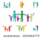 colorful abstract pictograms... | Shutterstock .eps vector #1043463775