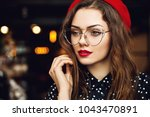 close up portrait of young... | Shutterstock . vector #1043470891