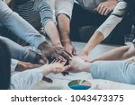 we are the great team  group of ... | Shutterstock . vector #1043473375