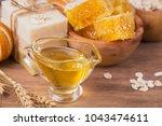 honeycomb  sea salt  oatmeal...   Shutterstock . vector #1043474611
