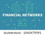 conceptual business... | Shutterstock . vector #1043479591
