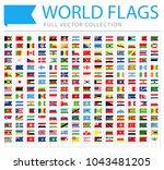 all world flags set   new... | Shutterstock .eps vector #1043481205
