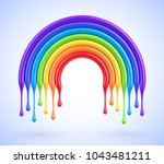 vector colorful rainbow arch... | Shutterstock .eps vector #1043481211