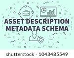 conceptual business... | Shutterstock . vector #1043485549