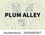 conceptual business... | Shutterstock . vector #1043485567