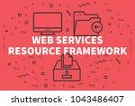conceptual business... | Shutterstock . vector #1043486407
