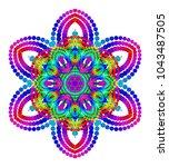 vector mystical mandala for... | Shutterstock .eps vector #1043487505
