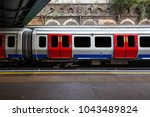 a view of london tube train... | Shutterstock . vector #1043489824